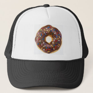 Chocolate Sprinkles Doughnut Trucker Hat