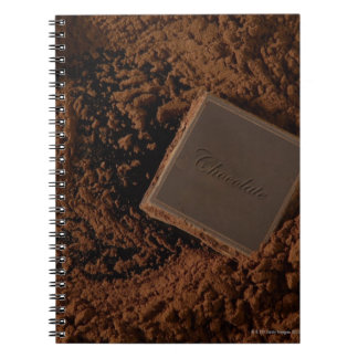 Chocolate Square in Chocolate Powder Notebook