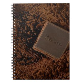 Chocolate Square in Chocolate Powder Spiral Notebook