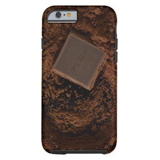 Chocolate Square in Chocolate Powder Tough iPhone 6 Case