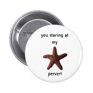 chocolate starfish 6 cm round badge