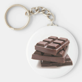 Chocolate stash basic round button key ring