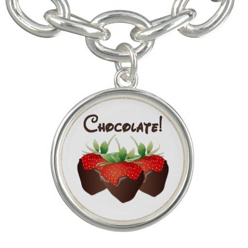 Chocolate Strawberries Bracelets