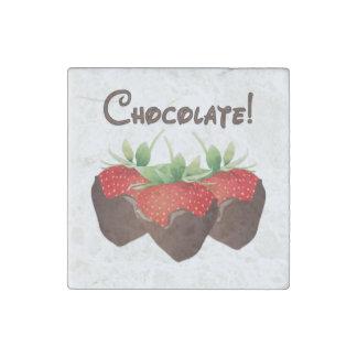 Chocolate Strawberries Stone Magnet