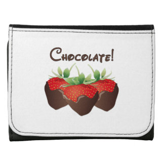 Chocolate Strawberries Leather Wallet