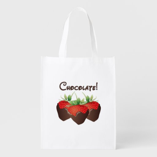 Chocolate Strawberries Grocery Bag