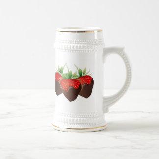 Chocolate Strawberry Beer Stein