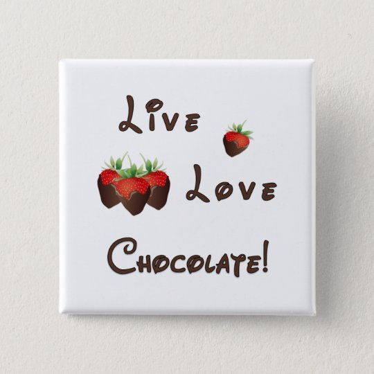 Chocolate Strawberry Button