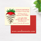 Chocolate Strawberry Chocolatier Pastry Chef Food Business Card