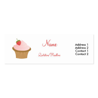 Chocolate Strawberry Cupcake Pack Of Skinny Business Cards