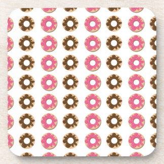 Chocolate & Strawberry Donuts Beverage Coaster