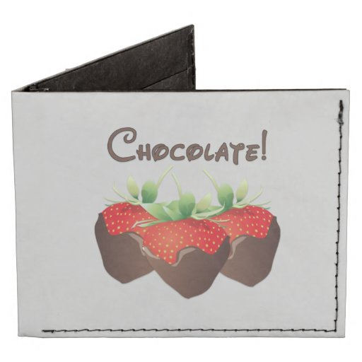 Chocolate Strawberry Billfold Wallet