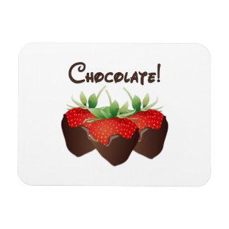Chocolate Strawberry Rectangular Photo Magnet