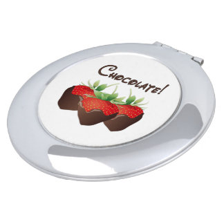 Chocolate Strawberry Love Mirrors For Makeup