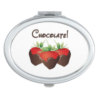 Chocolate Strawberry Love Mirror For Makeup