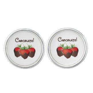 Chocolate Strawberry Love Cuff Links