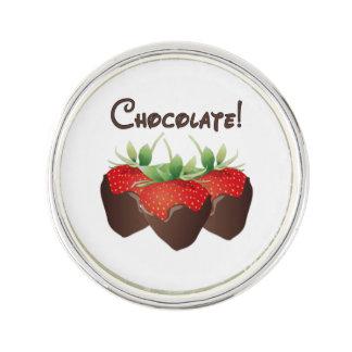Chocolate Strawberry Love Lapel Pin