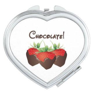 Chocolate Strawberry Love Makeup Mirrors
