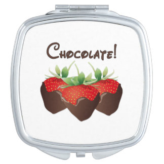 Chocolate Strawberry Love Vanity Mirrors