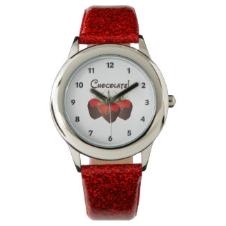 Chocolate Strawberry Love Watches