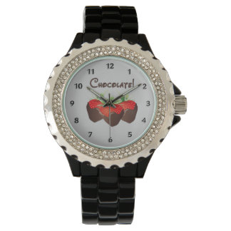 Chocolate Strawberry Love Wrist Watch