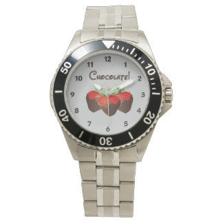 Chocolate Strawberry Love Wrist Watches