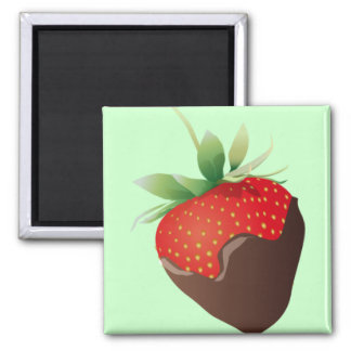 Chocolate Strawberry Square Magnet
