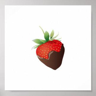Chocolate Strawberry Poster