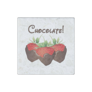 Chocolate Strawberry Stone Magnet
