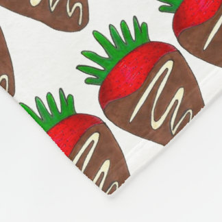 Chocolate Strawberry Strawberries Foodie Blanket