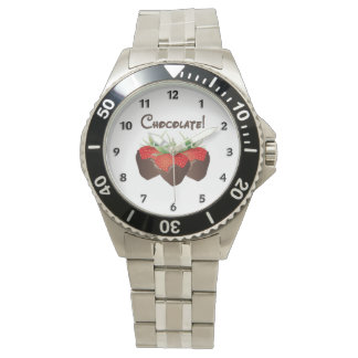 Chocolate Strawberry Wrist Watches