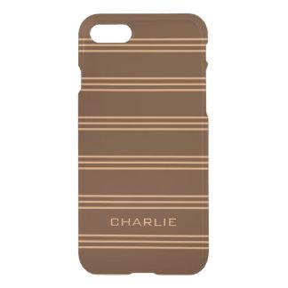 Chocolate Stripes custom monogram phone cases