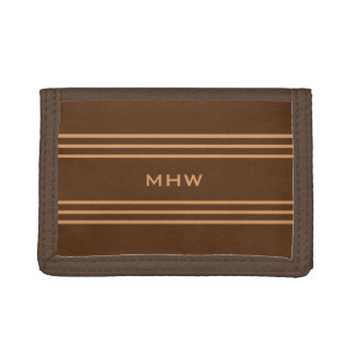 Chocolate Stripes custom monogram wallets