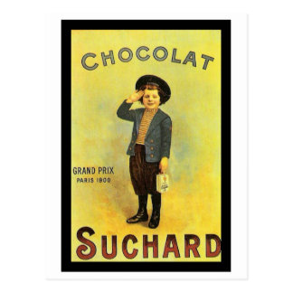 Chocolate Suchard 3 Vintage Ad with Boy Post Card