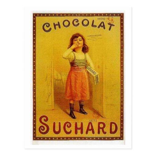 Chocolate Suchard Vintage Ad Post Cards