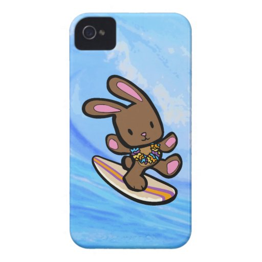 Chocolate Surfing Bunny iPhone 4 Casemate iPhone 4 Case-Mate Case