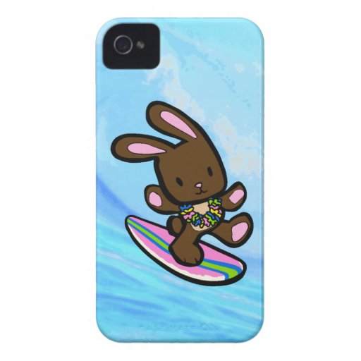 Chocolate Surfing Bunny iPhone 4 Casemate Case-Mate iPhone 4 Cases