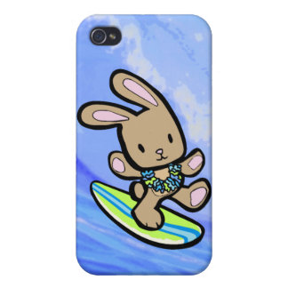 Chocolate Surfing Bunny  iPhone 4/4S Case