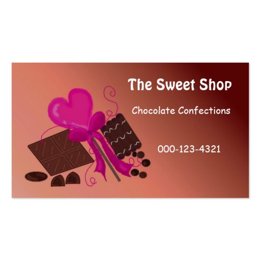 Sweet shop business cards sweet shop business card designs for Business card shop