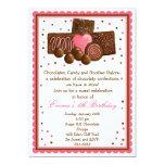 Chocolate Sweet Shop Inivtations 13 Cm X 18 Cm Invitation Card