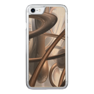 Chocolate Swirl Abstract Carved iPhone 8/7 Case