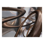 Chocolate Swirl Abstract Poster