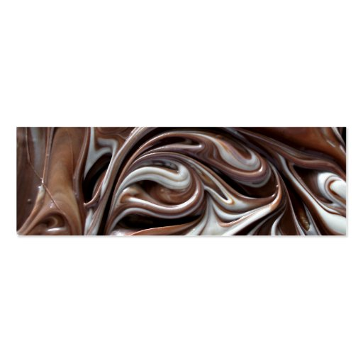 chocolate swirl bookmark business card templates