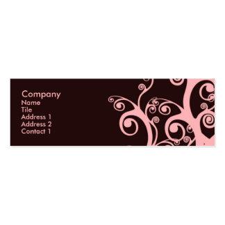 Chocolate Swirls Pack Of Skinny Business Cards
