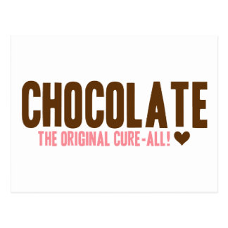 Chocolate - The Original Cure-All Postcard