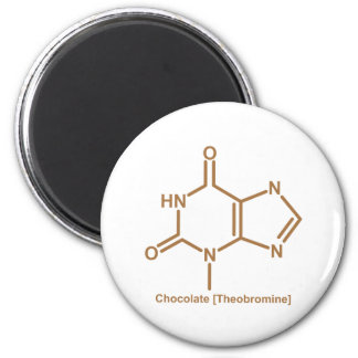 Chocolate theobromine 6 cm round magnet