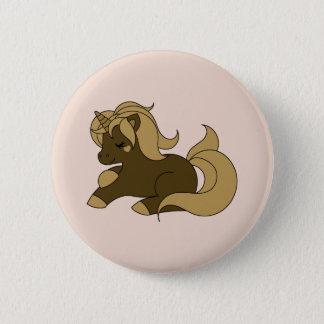 Chocolate unicorn 6 cm round badge