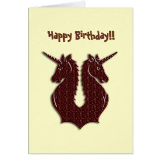Chocolate Unicorns birthday card