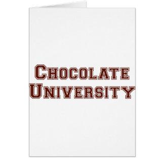 Chocolate University Greeting Cards