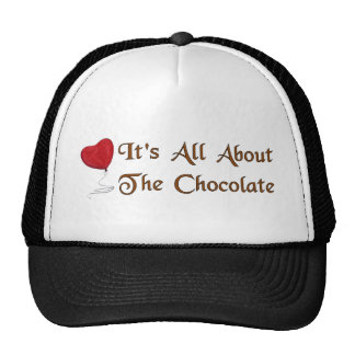 Chocolate Valentine Mesh Hat